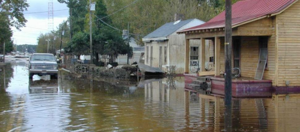 A view of Princeville in flood.
